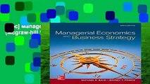 [Doc] Managerial Economics   Business Strategy (Mcgraw-hill Series Economics)