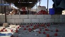 قتيل وعشرات الجرحى بقصف لميليشيا أسد على سوق الهال في مدينة سراقب