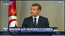 Obsèques Béji Caïd Essebsi: Emmanuel Macron rend hommage au président Tunisien