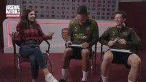 Entrevista a Aubameyang y Özil en la televisión del Arsenal
