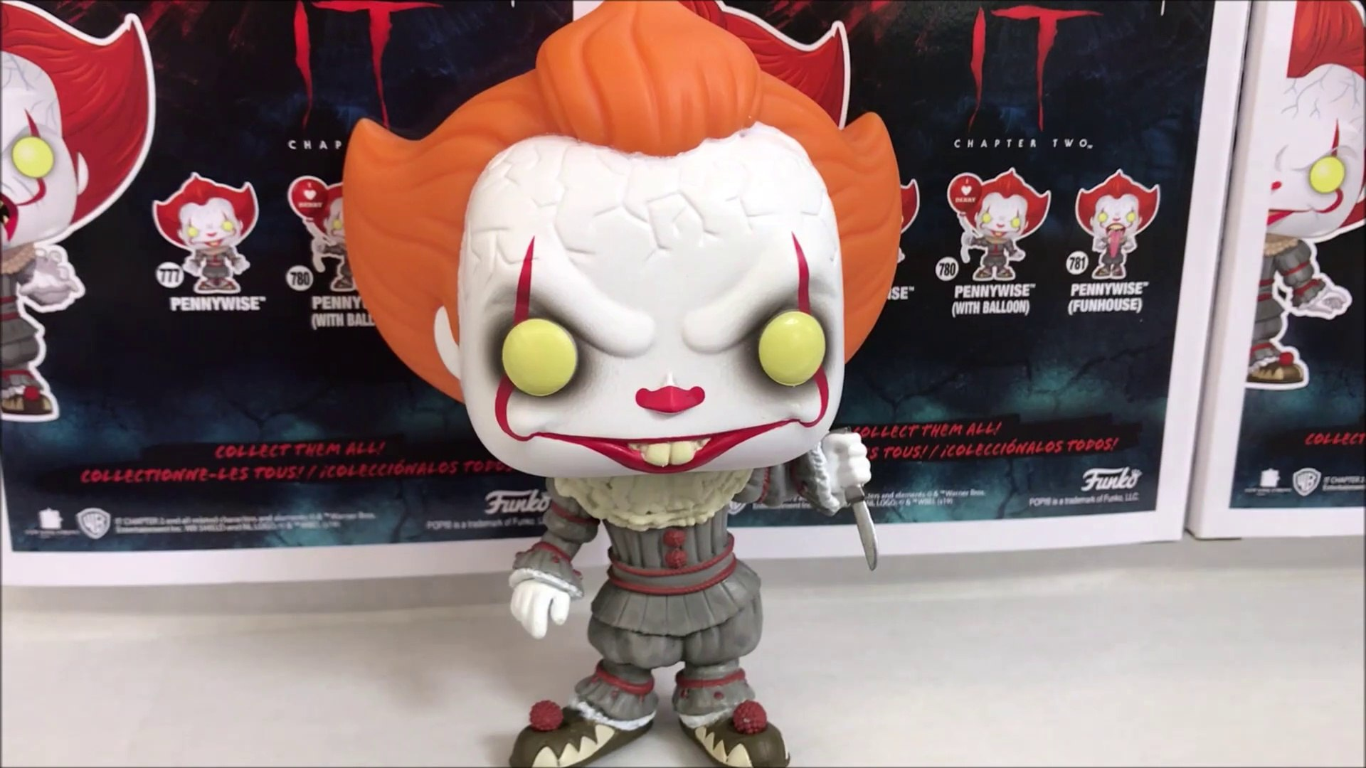 IT MOVIE CHAPTER 2 PENNYWISE WALMART 2019 FUNKO POP EXCLUSIVE DETAILED LOOK + LONG TONGUE & OTHE