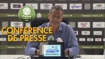 Conférence de presse EA Guingamp - Grenoble Foot 38 (3-3) : Patrice LAIR (EAG) - Philippe  HINSCHBERGER (GF38) - 2019/2020