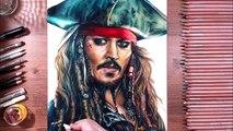 Drawing Jack Sparrow (Johnny Depp) - drawholic
