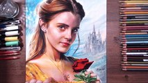 Beauty and the Beast: Belle(Emma Watson) - Colored pencil drawing