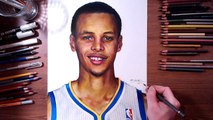 Stephen Curry - Colored pencil drawing - drawholic