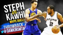Kawhi Leonard vs Stephen Curry Full Duel 2015.04.05 - Finals MVP vs League MVP- - FreeDawkins