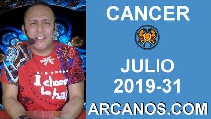 HOROSCOPO CANCER - Semana 2019-31 Del 28 de julio al 3 de agosto de 2019 - ARCANOS.COM