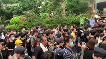 Hong Kong protesters march towards Causeway Bay
