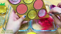 GOLD vs PINK ! Mixing Makeup Eyeshadow into Clear Slime ! Special Series #83 Satisfying Slime