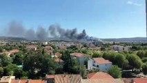 Incendie en cours sur la commune de Marignane