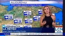 Marie-Andrée Poulin a la Météo Dimanche 28 Juillet 2019. @MAndreePoulin #Météo #Montreal #Canada #Weather