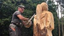 Une nouvelle sculpture à la tronçonneuse pour Gérard Ferruel