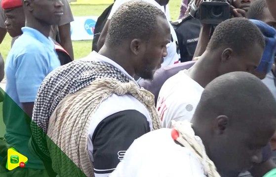 Arrivée de Modou Lo au Stade Léopald Sédar Senghor