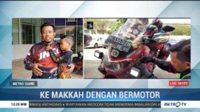 Pria Jambi Ini Naik Motor ke Makkah Demi Hajikan Ibunda
