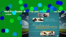 About For Books  Reading and Understanding Research:  Review