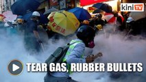 Police fire tear gas, rubber bullets as riots continue in Hong Kong