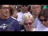 À Gênes, un mois jour pour jour après le drame, les habitants ont respecté une minute de silence