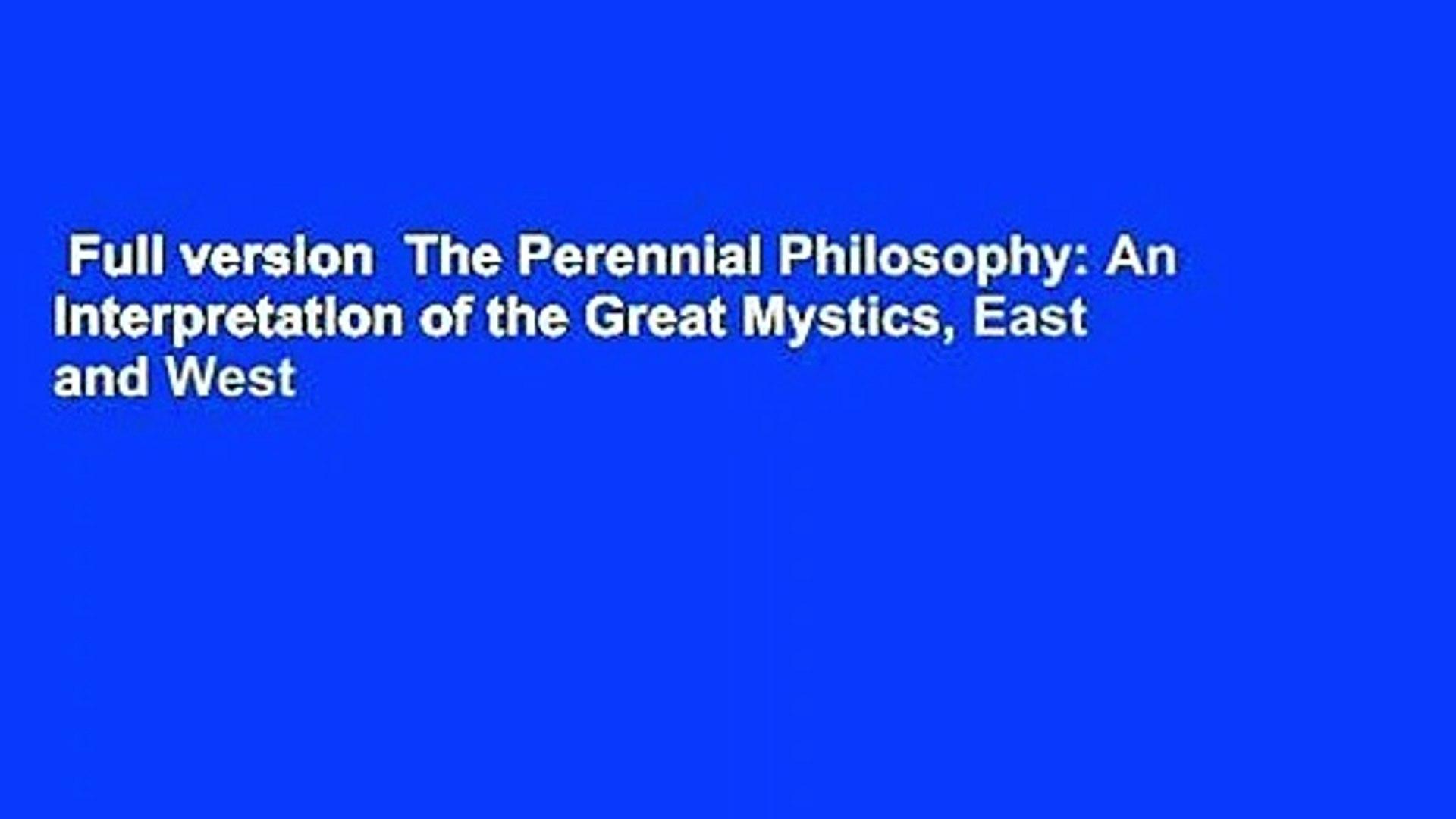 Bestseller: The Perennial Philosophy Aldous Huxley Pdf
