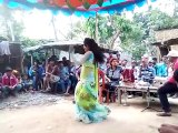 Village girl presenting dance