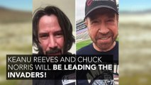 Keanu Reeves and Chuck Norris will be taking part in the invasion of Area 51