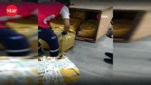 İstanbul Havalimanı'nda nesli tükenmekte olan Pangolin'e ait 1 ton 217 kilogram pul ele geçirildi