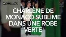 Charlène de Monaco resplendissante dans une robe verte !