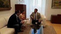 María Chivite se reúne con el presidente del Parlamento de Navarra