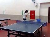Table Tennis  -    Wang Zhiwei serving demonstration