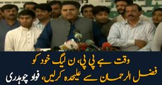 PPP and PML-N should separate themselves from Fazal ur Rahman: Fawad Chaudhry