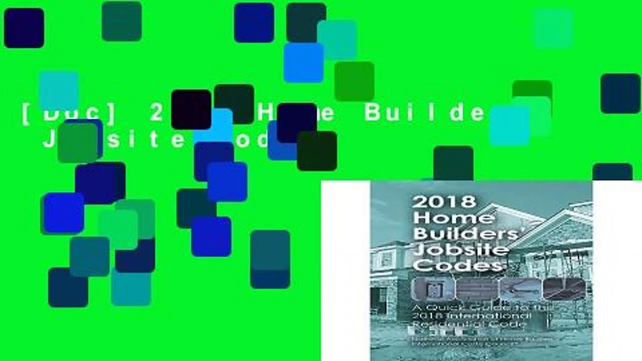 [Doc] 2018 Home Builders  Jobsite Codes