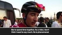 (Subtitled) 'Bernal will be one of the biggest riders in history' says INEOS team-mate Moscon