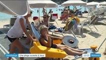 Antibes : une plage accessible aux personnes handicapées