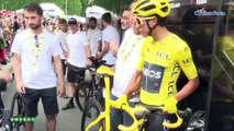 Tour de France 2019 - Egan Bernal, Nicolas Portal and TeamINEOS : a day on the Tour de France in Paris on the Champs-Elysees