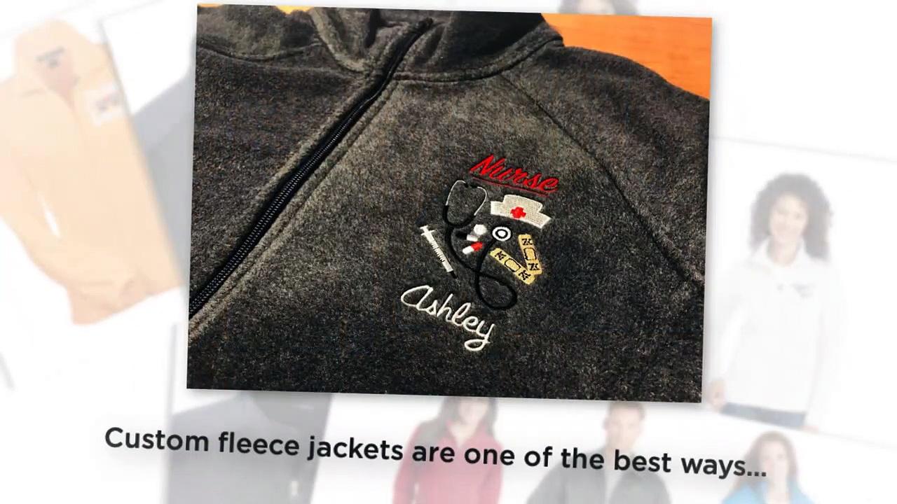 Custom Embroidered Fleece Jackets No Minimum