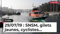 SNSM, gilets jaunes, cyclistes... Cinq infos bretonnes du 29 juillet