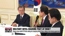 Rising voices within S. Korea calling for scrapping Seoul-Tokyo military intel-sharing agreement