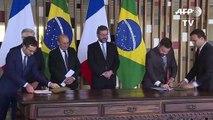 Brasil y Francia firman acuerdo climático