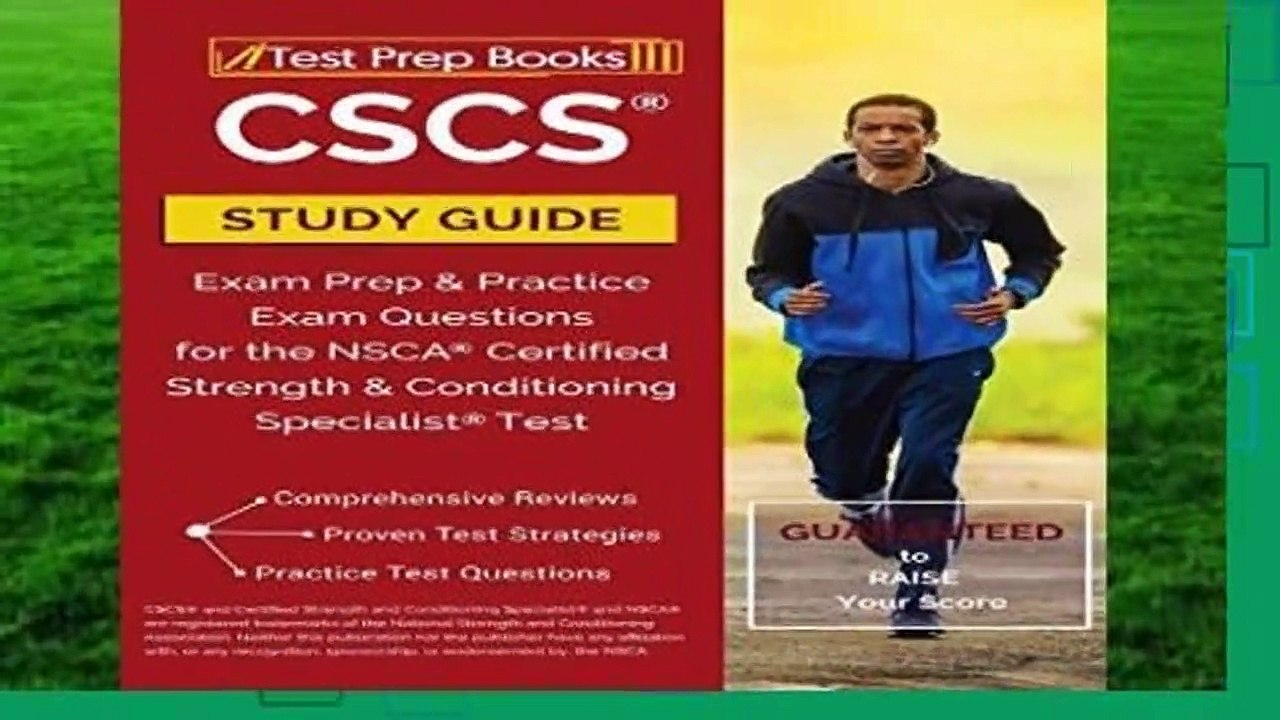 Full E-book CSCS Study Guide: Exam Prep Practice Exam Questions for the  NSCA Certified