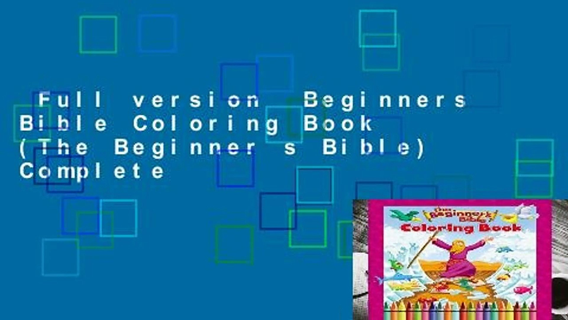 760+ Beginners Bible Coloring Book Free