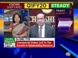 Expect shipbuilding growth momentum to accelerate slightly in coming quarters, says Cochin Shipyard