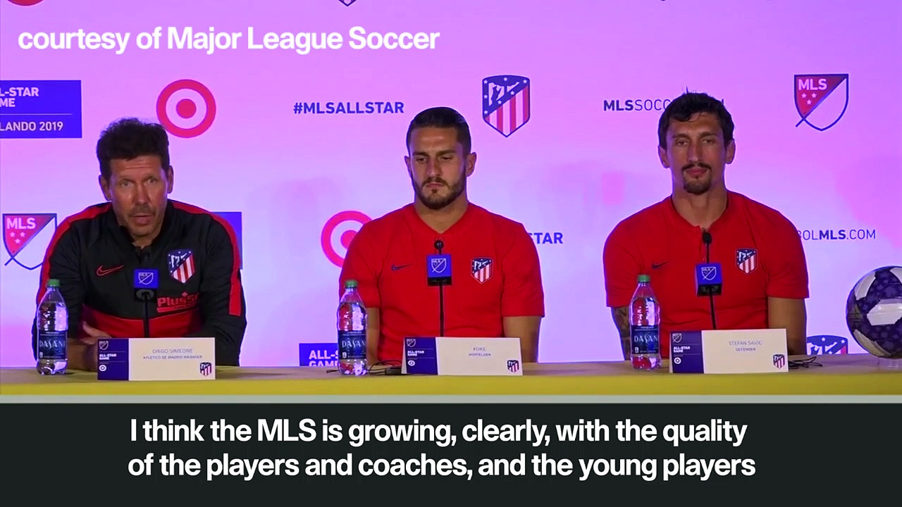 (Subtitled) 'Ibrahimovic could have played for Atletico' Simeone looks ahead to MLS All-Star game