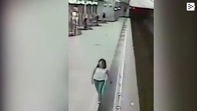 A boy is distracted by his phone and falls to the subway tracks in the Russian city of Yekaterinburg