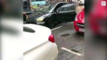 Un conductor enfurecido golpea sin querer a un peatón y luego lo atropella adrede, en el centro de Newcastle