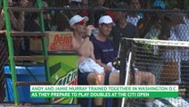 Murray brothers practice ahead of Washington doubles