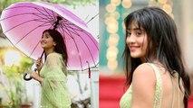 Shivangi Joshi enjoys rain on the sets of Yeh Rishta Kya Kehlata Hai; Check out | FilmiBeat