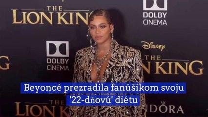 Beyoncé prezradila fanúšikom svoju 22-dňovú diétu