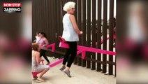 Des balançoires installées à la frontière entre le Mexique et les États-Unis (Vidéo)