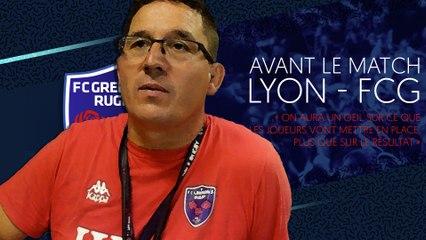 Sylvain Begon avant le premier match de préparation face au LOU