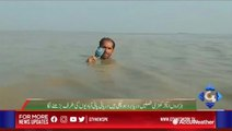 Pakistani reporter makes headlines himself after reporting in neck-deep flood waters
