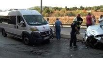 Fren yerine gaza bastı, ortalık savaş alanına döndü...4 aracın karıştığı kazada 3 kişi yaralandı